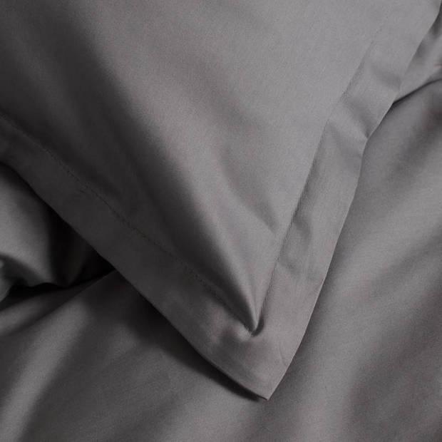 Cinderella Uni dekbedovertrek - Lits-jumeaux (260x200/220 cm + 2 slopen) - Katoen satijn - Anthracite