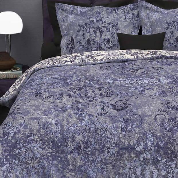 Heckett & Lane Heckett & Lane Walsh dekbedovertrek - Lits-jumeaux (240x200/220 cm + 2 slopen) - Katoen - Velvet Blue