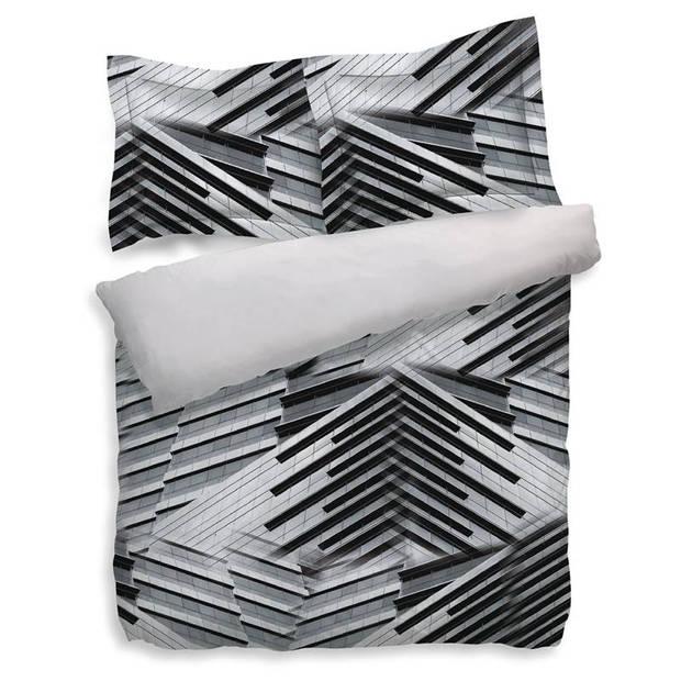 Heckett & Lane Nari dekbedovertrek - 100% katoen - Lits-jumeaux (260x200/220 cm + 2 slopen) - Cloudburst Grey