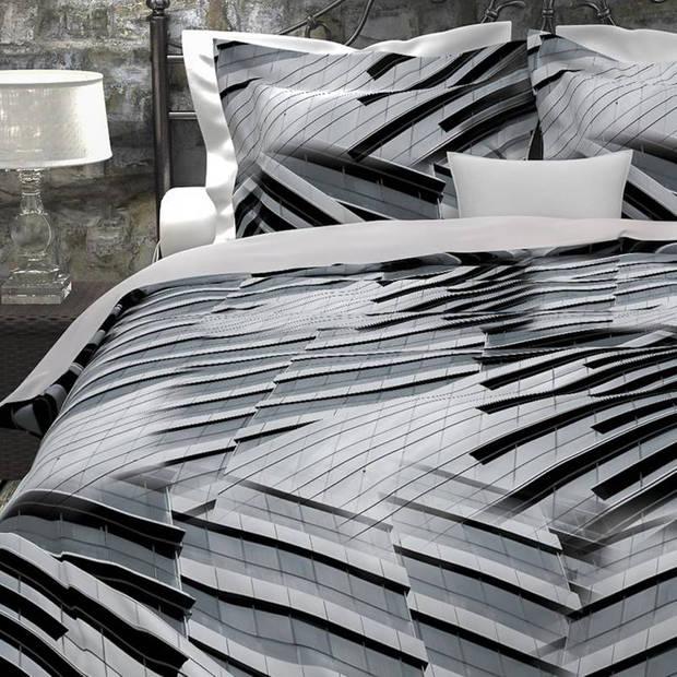 Heckett & Lane Nari dekbedovertrek - 100% katoen - Lits-jumeaux (240x200/220 cm + 2 slopen) - Cloudburst Grey
