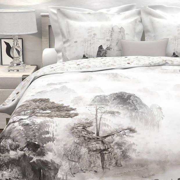 Heckett & Lane Ning dekbedovertrek - 100% katoen - Lits-jumeaux (260x200/220 cm + 2 slopen) - Cloud White