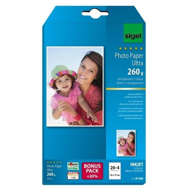 inkjet Ultra fotopapier 260grs 24 vel eindformaat 10x15cm,