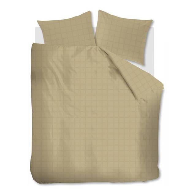Beddinghouse Rain dekbedovertrek - 100% katoen-satijn - 1-persoons (140x200/220 cm + 1 sloop) - 1 stuk (60x70 cm) - Goud