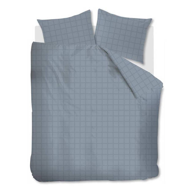 Beddinghouse Rain dekbedovertrek - Lits-jumeaux (240x200/220 cm + 2 slopen) - Katoen satijn - Blue