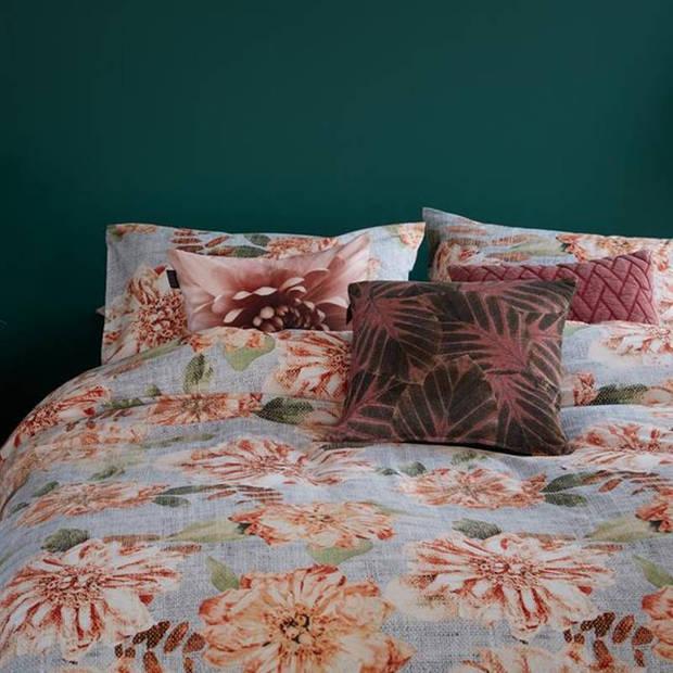 Beddinghouse Linen Flower dekbedovertrek - Lits-jumeaux (240x200/220 cm + 2 slopen) - Katoen - Natural