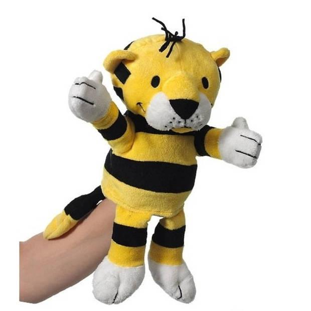Pluche handpop tijger 22 cm - Handpoppen