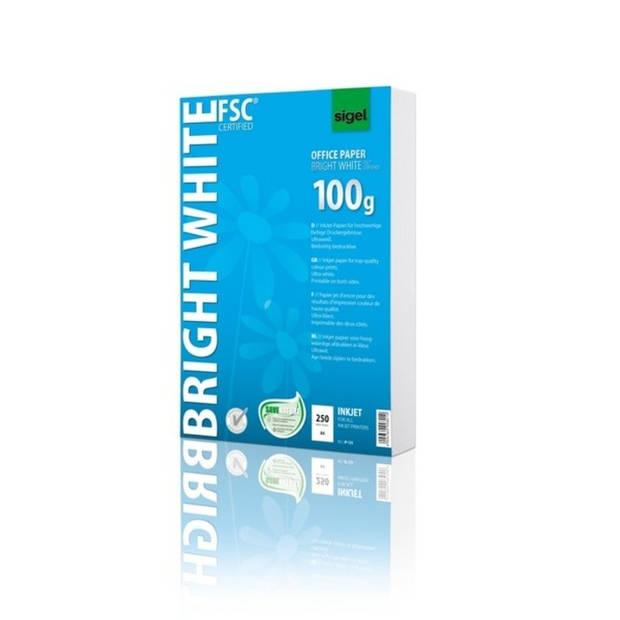 inkjetpapier Sigel A4 100grs pak a 250 vel wit