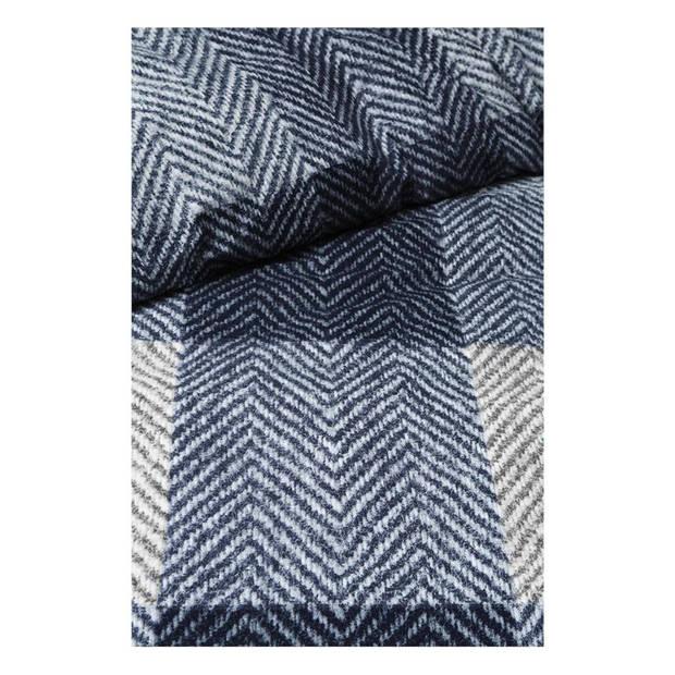 Beddinghouse Karoo flanel dekbedovertrek - Lits-jumeaux (260x200/220 cm + 2 slopen) - Flanel - Navy