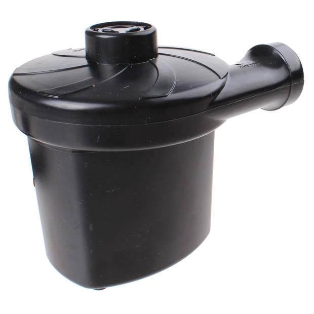 Summit luchtpomp met opzetstukken (Engelse stekker) zwart