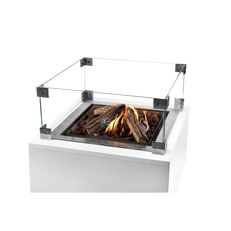 Happy Cocooning Glazen Ombouw Inbouwbrander Vierkant 40x40x17 Cm