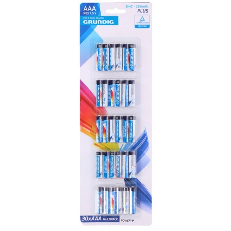 Grundig batterijen R03 AAA zink 30 stuks