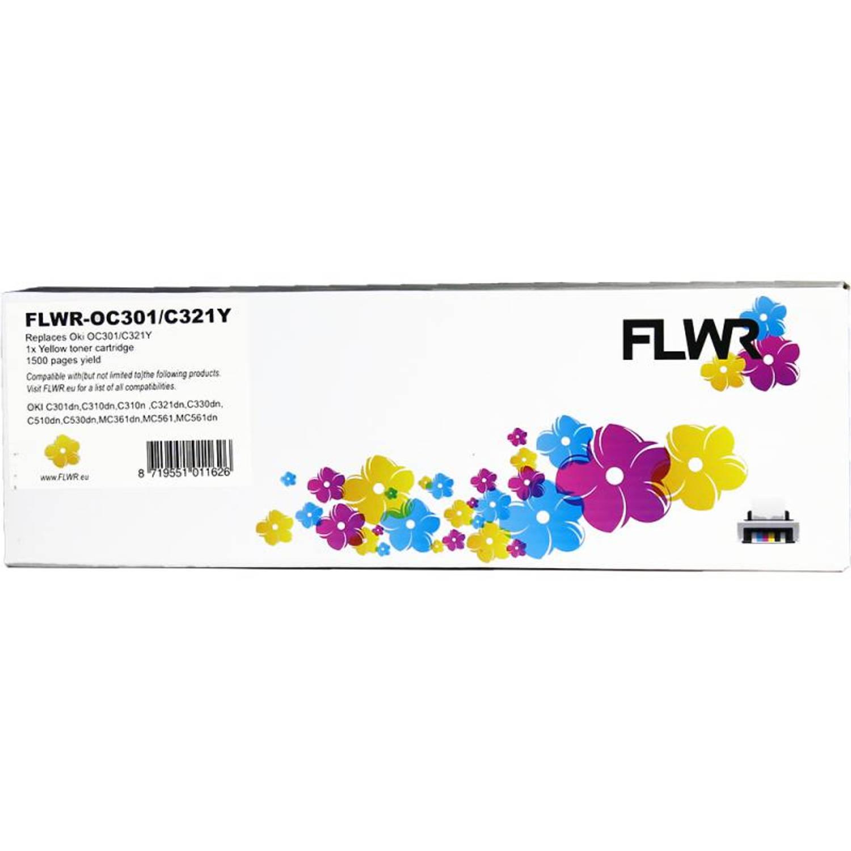 Korting Flwr Oki C301 C321 Geel Toner