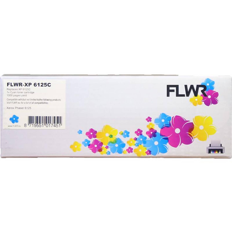 FLWR Xerox Phaser 6125 cyaan Toner