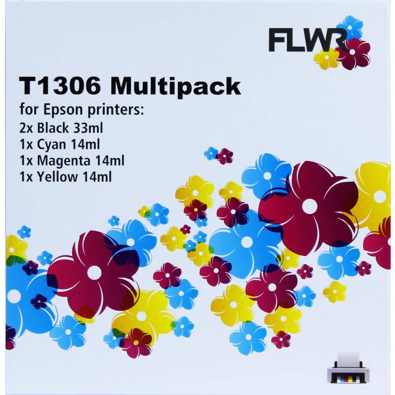 FLWR Epson T1306 Multipack zwart en kleur Cartridge