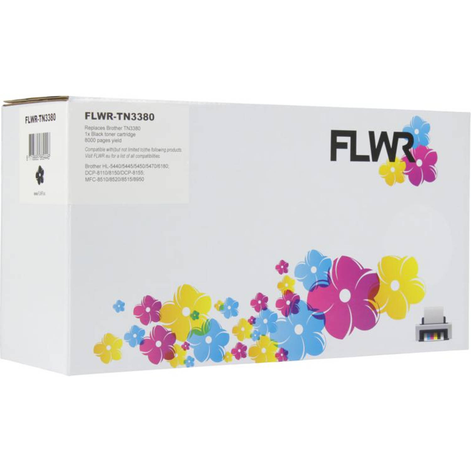 FLWR Brother TN-3380 zwart Toner