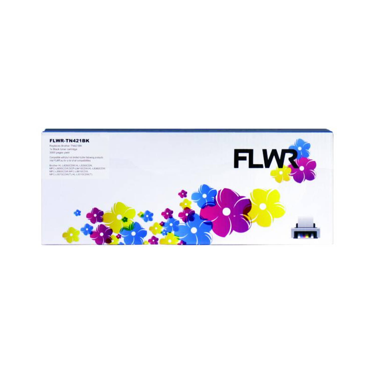 FLWR Brother TN-421 zwart Toner