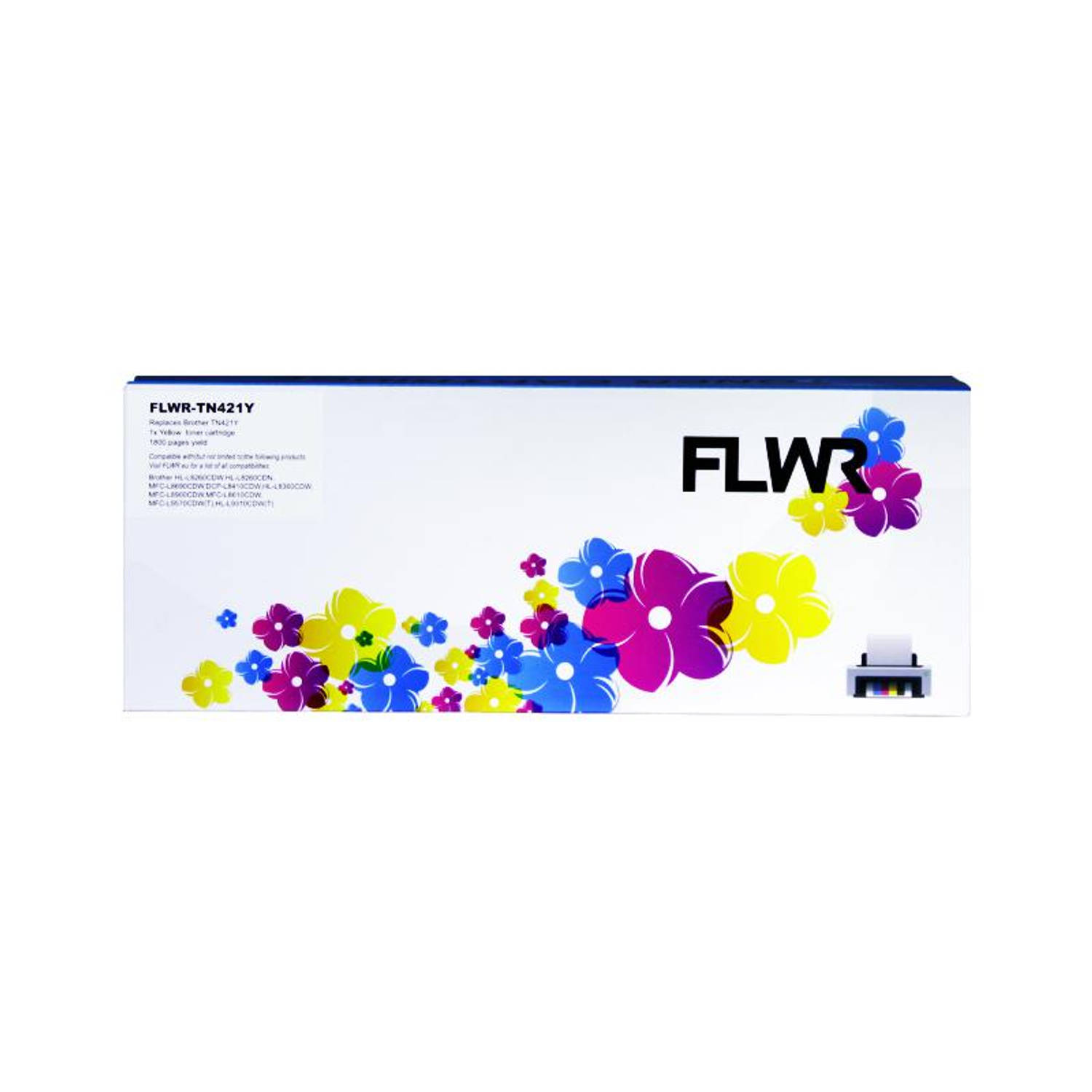 FLWR Brother TN-421 geel Toner