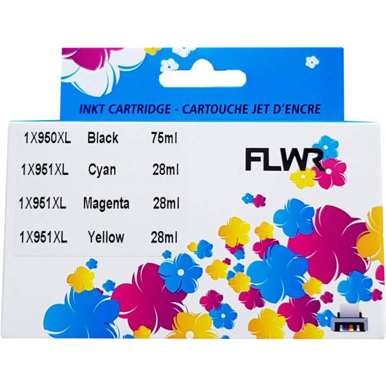 FLWR HP 950XL / 951XL 4-pack zwart en kleur Cartridge