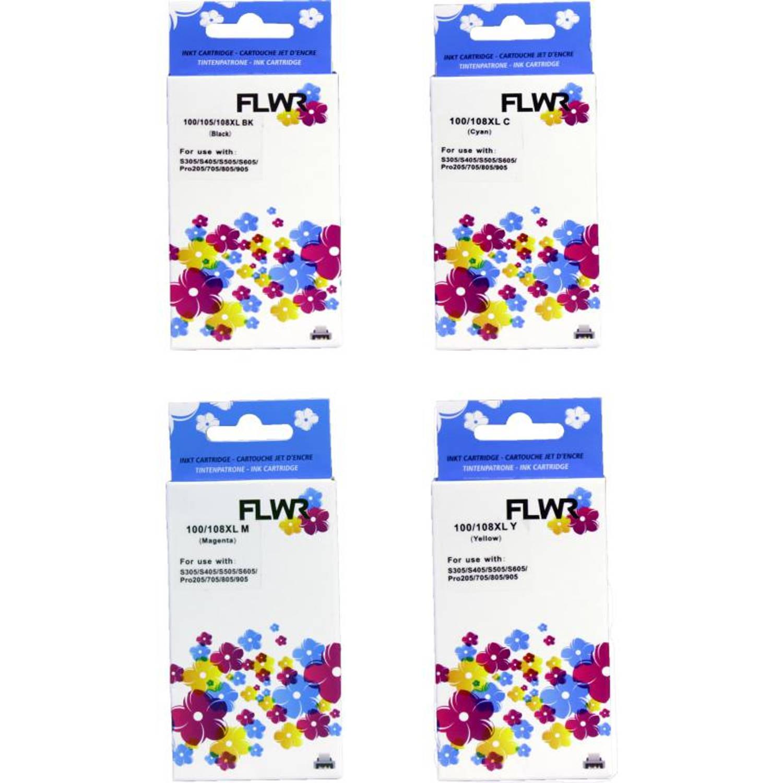 FLWR Lexmark 100XL Multipack zwart en kleur Cartridge