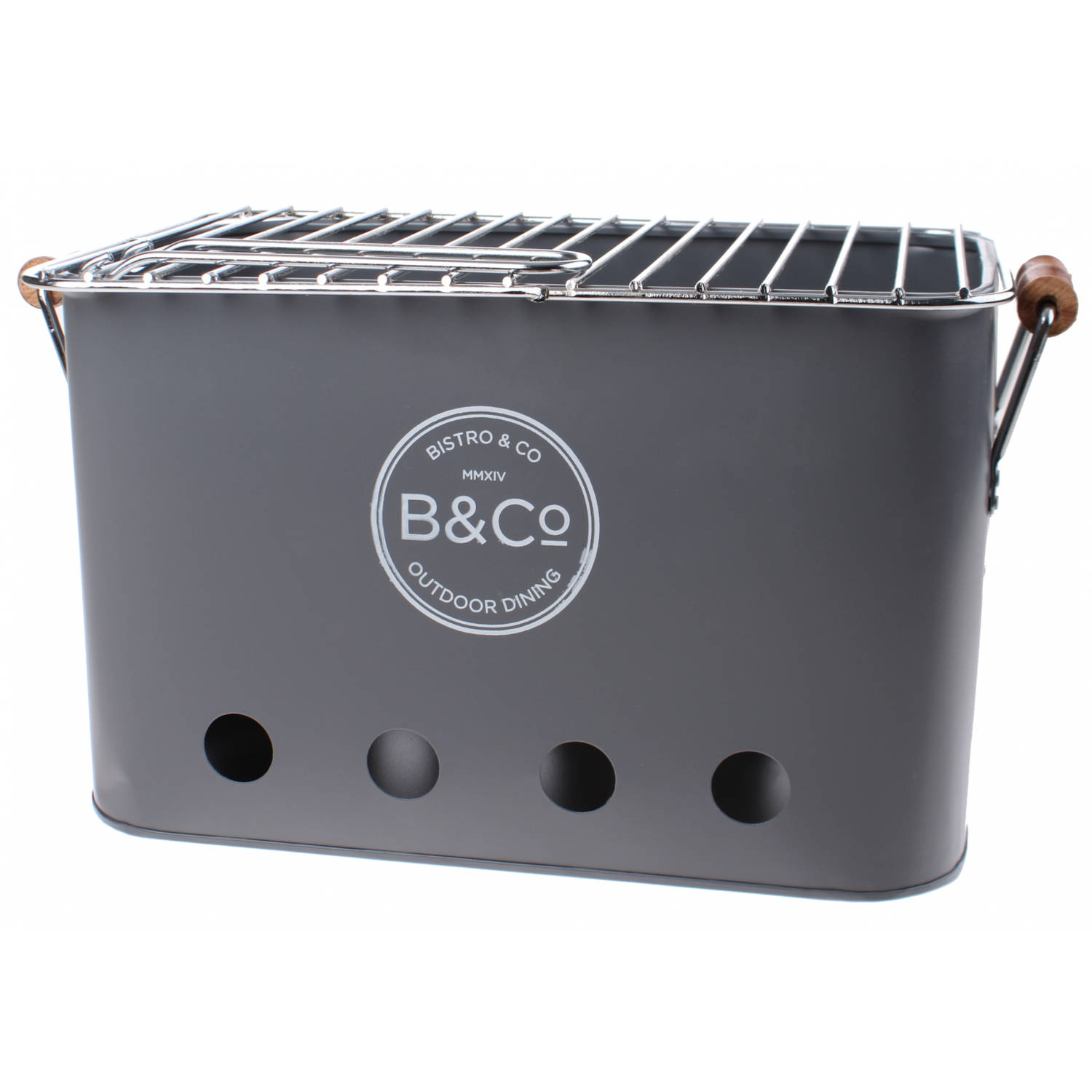 Bco Draagbare Bbq Wilyabrup 32 Cm Staal Grijs