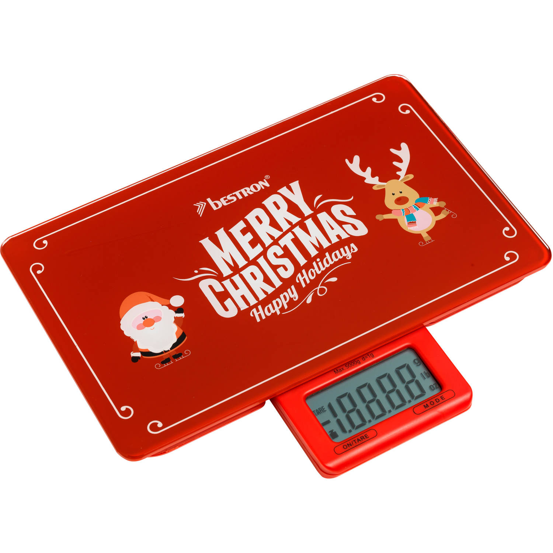 """AKS300C Digitale Keukenweegschaal """"Merry Christmas"""""""