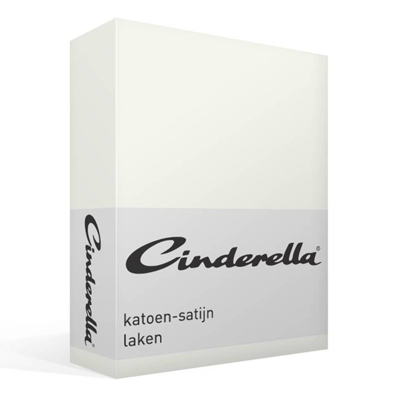 Cinderella satijn laken - 100% katoen-satijn - 1-persoons (160x270 cm) - Ivoor