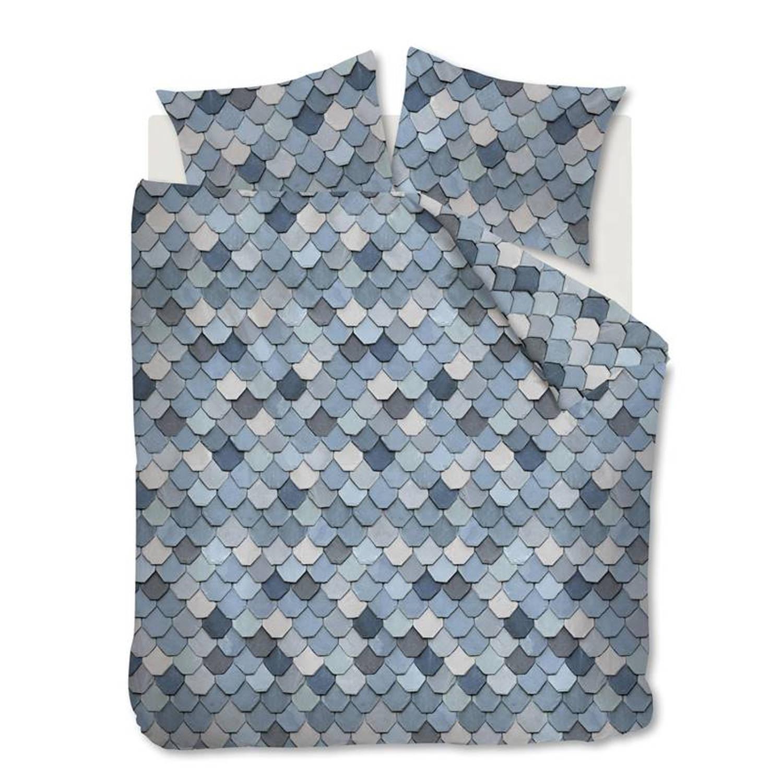 Afbeelding van At Home with Marieke At Home View dekbedovertrek - 100% katoen - Lits-jumeaux (260x200/220 cm + 2 slopen) - Blue