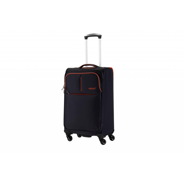 Nowi Ravello extra lichtgewicht handbagage koffer reiskoffer trolley 45 cm gevoerde binnenkant zwart