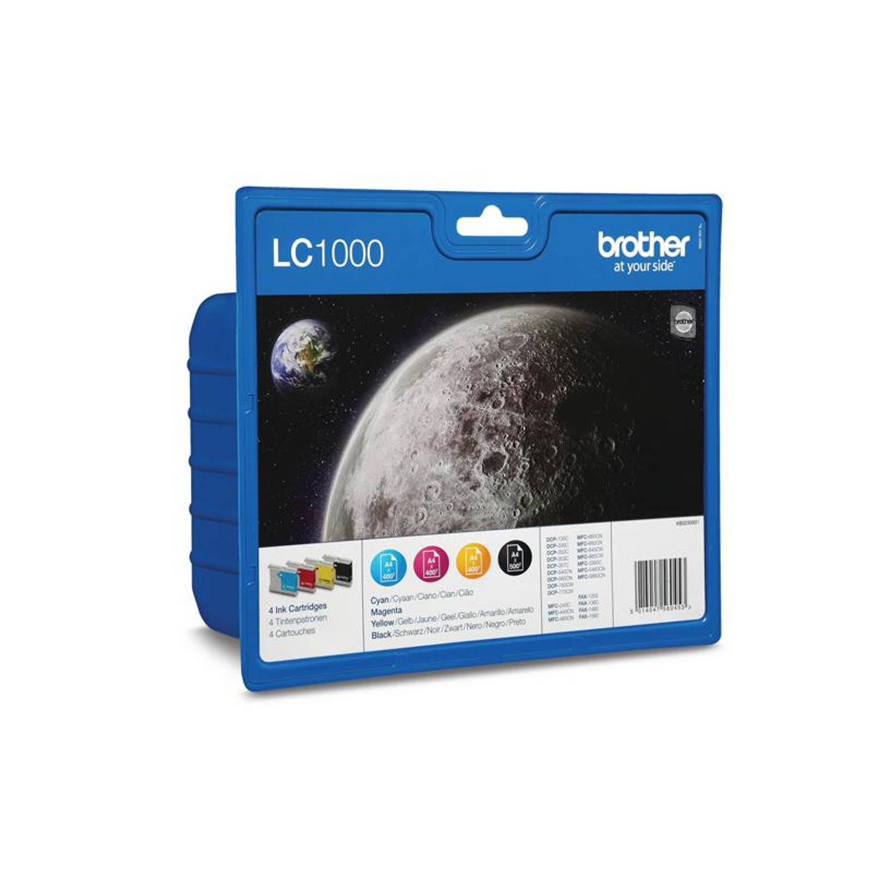 Brother LC-1000 multipack zwart en kleur Cartridge