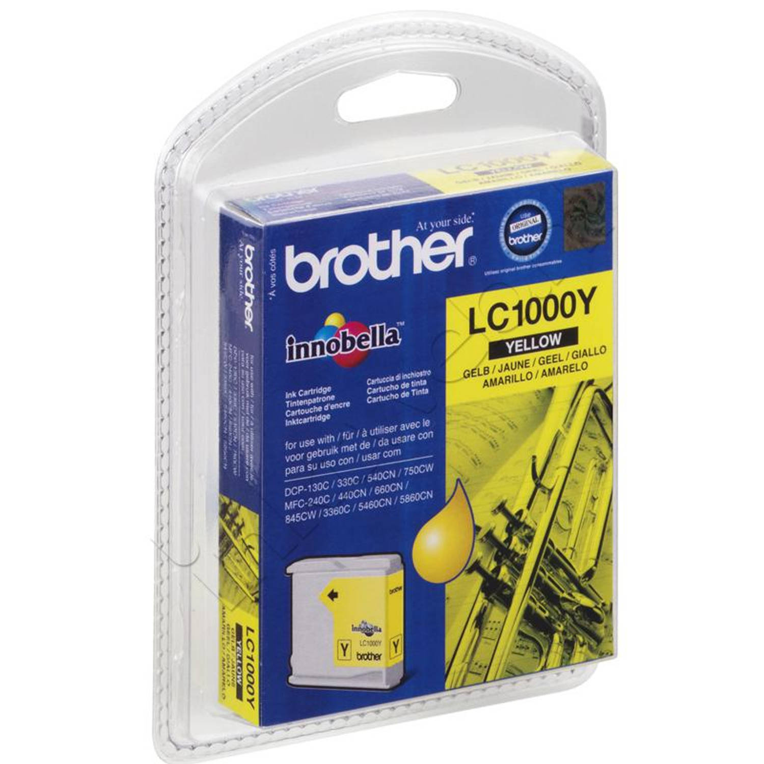 Brother LC-1000Y geel Cartridge