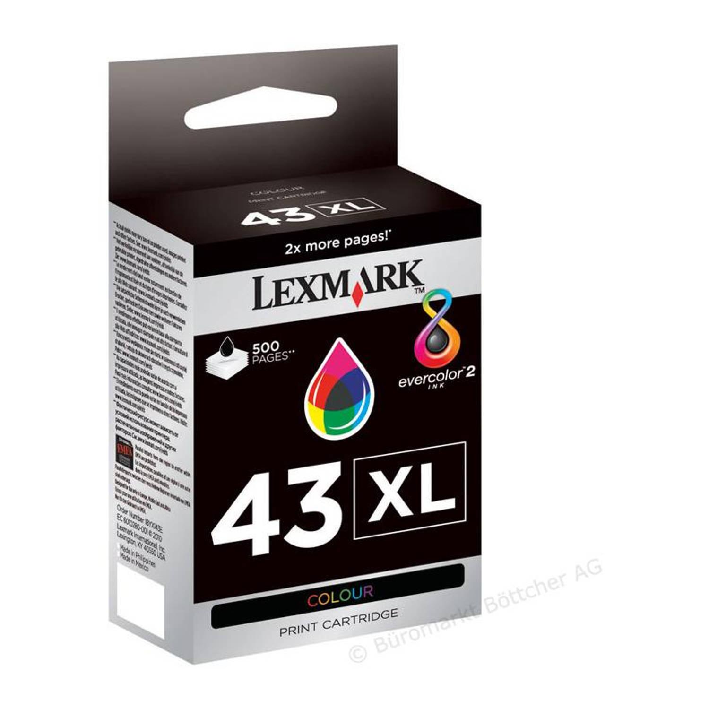 Lexmark 43XL kleur Cartridge