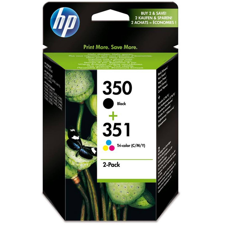 Image of HP 350 en 351 zwart en kleur Cartridge