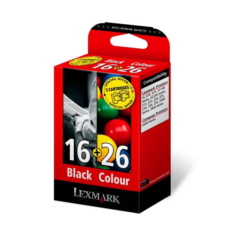 Lexmark 16 en 26 zwart en kleur Cartridge