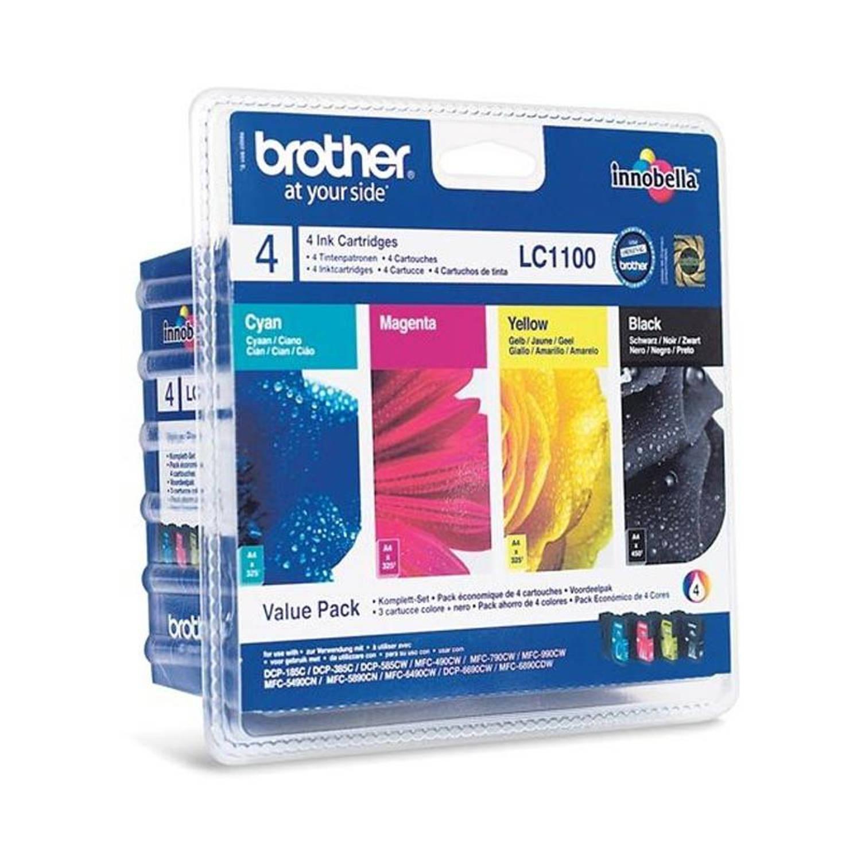 Brother LC-1100 Multipack zwart en kleur Cartridge