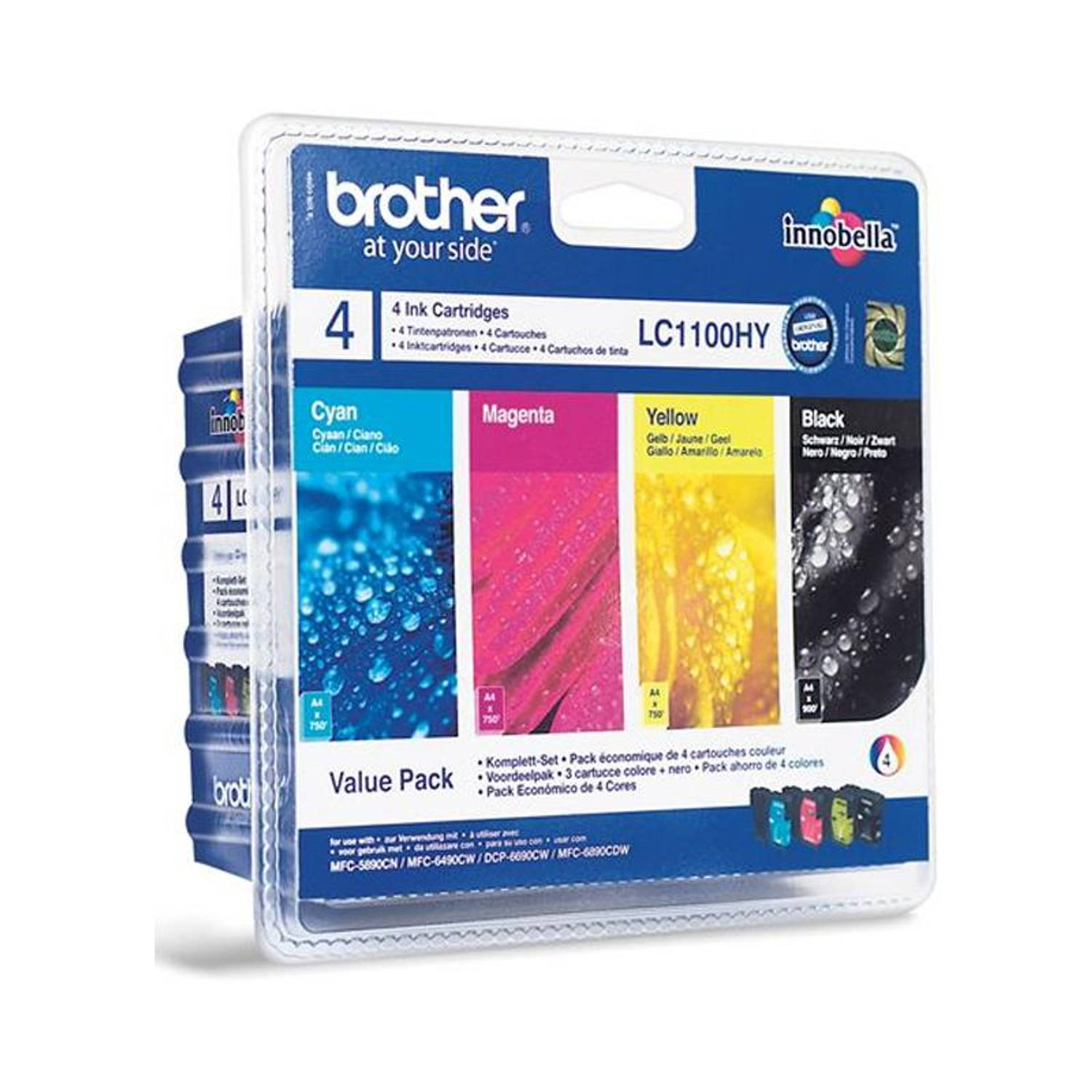 Brother LC-1100HY Multipack zwart en kleur Cartridge