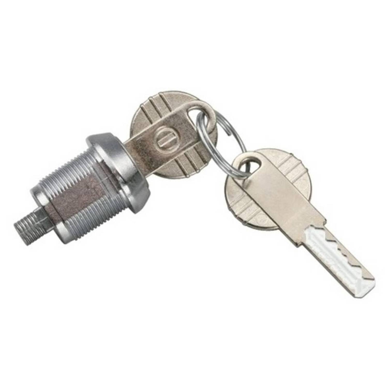 Afbeelding van AutoStyle Slot dakkoffer zilver incl twee sleutels.