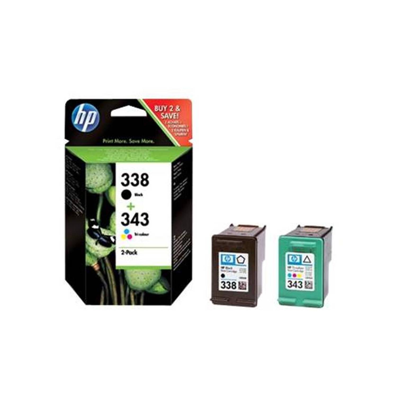 HP 338/343 zwart en kleur Cartridge