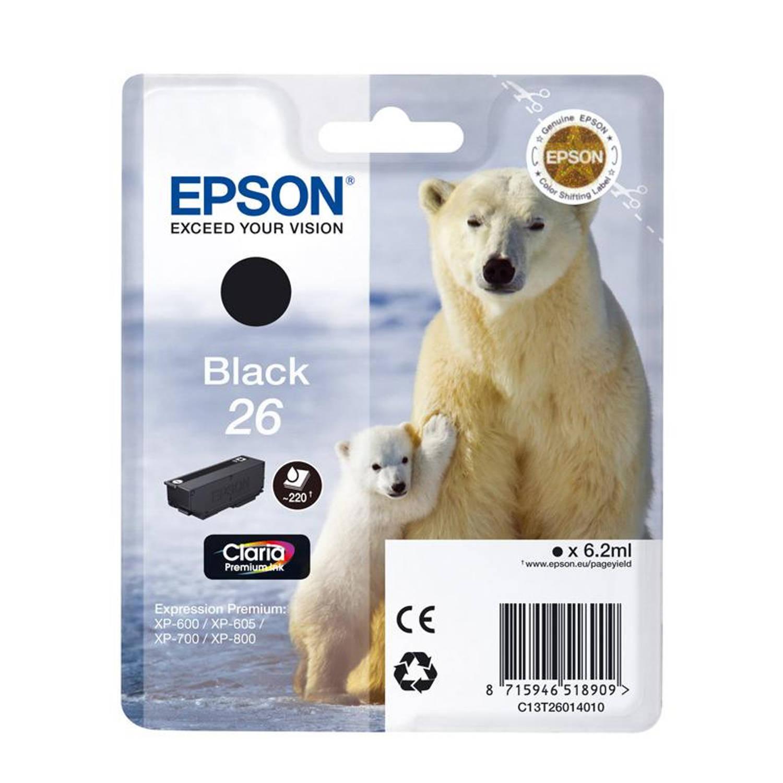 Epson 26 zwart Cartridge