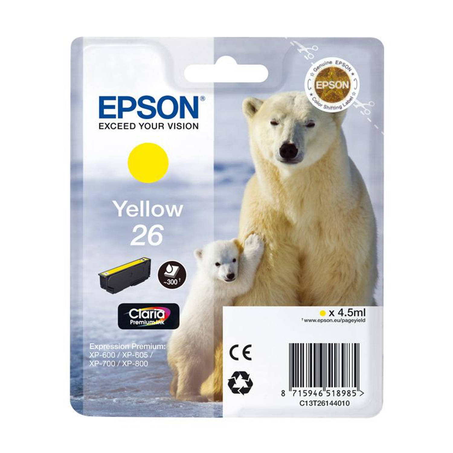 Epson 26 geel Cartridge