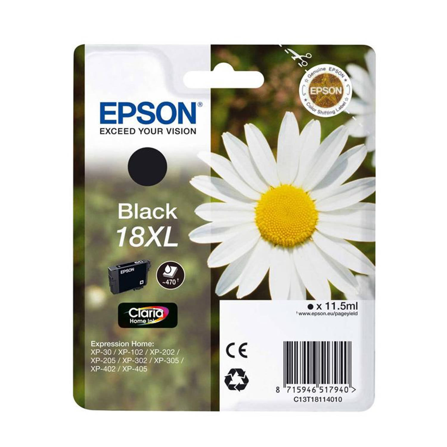 Epson 18XL zwart Cartridge