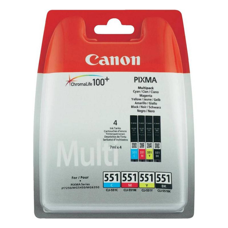 Canon CLI-551 zwart en kleur Cartridge