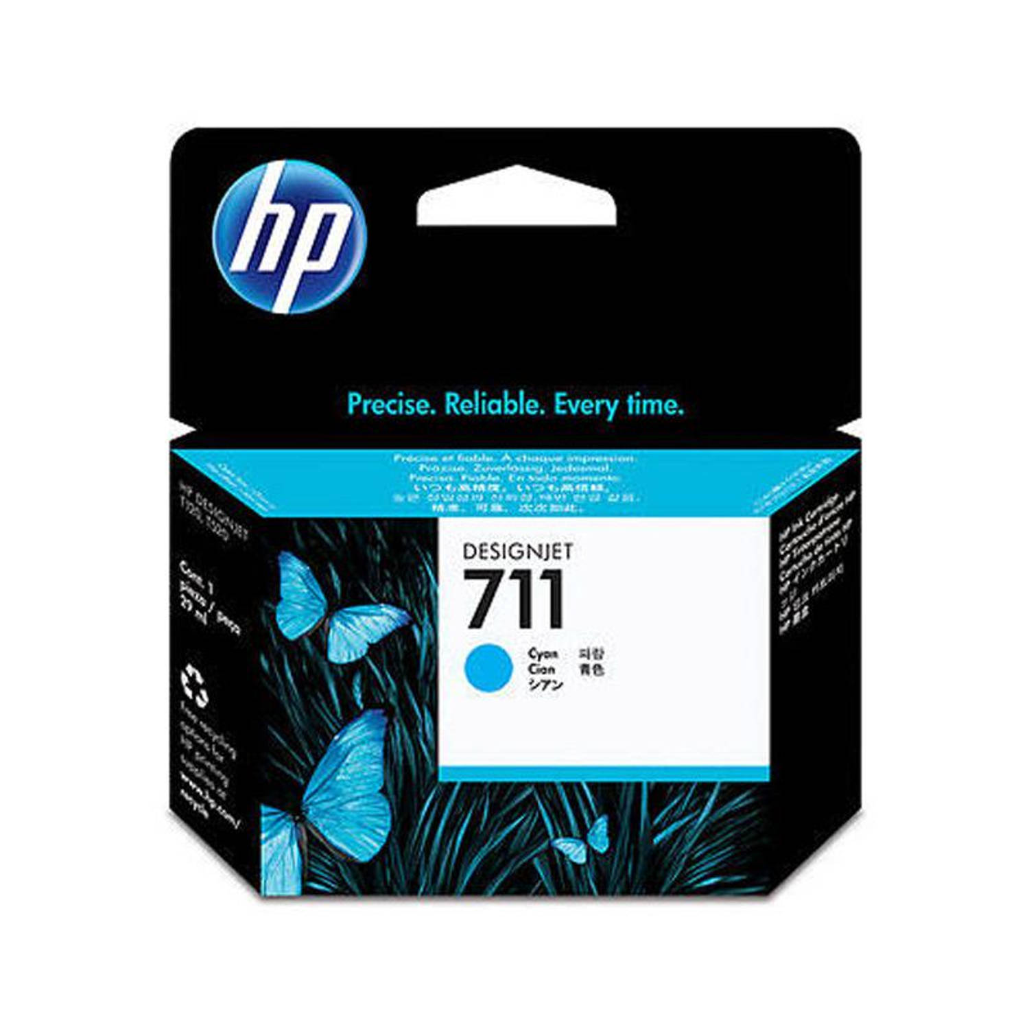 HP 711 cyaan Cartridge