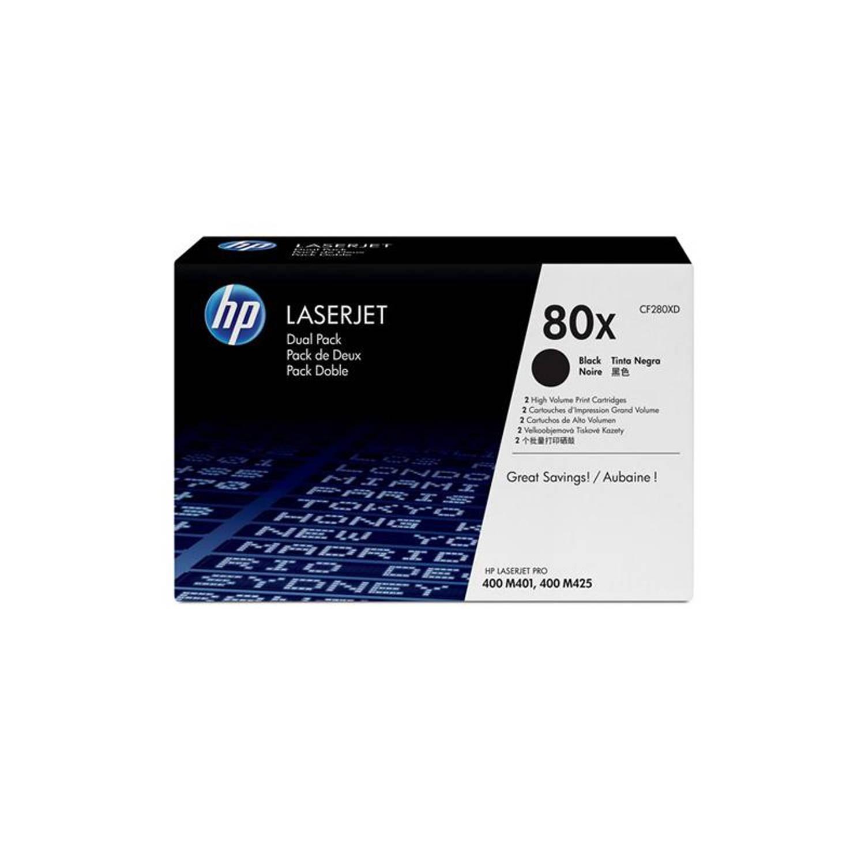 HP 80X Duo-Pack zwart Toner