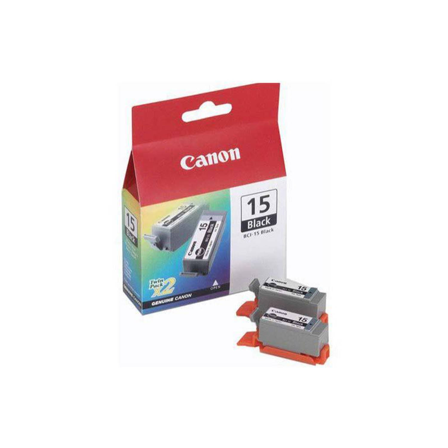 Canon BCI-15BK duo pack zwart Cartridge