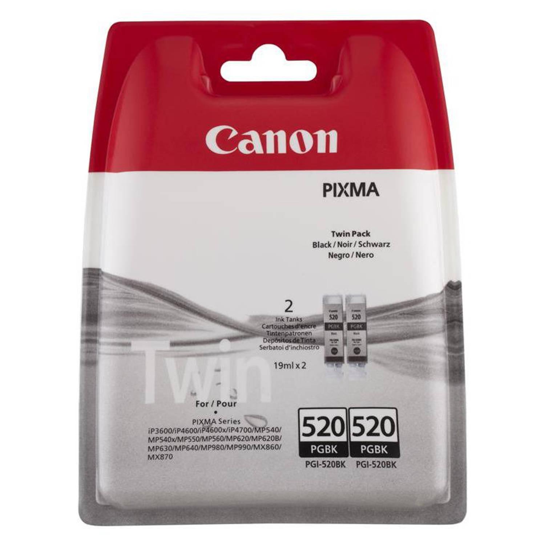 Canon PGI-520BK twinpack zwart Cartridge