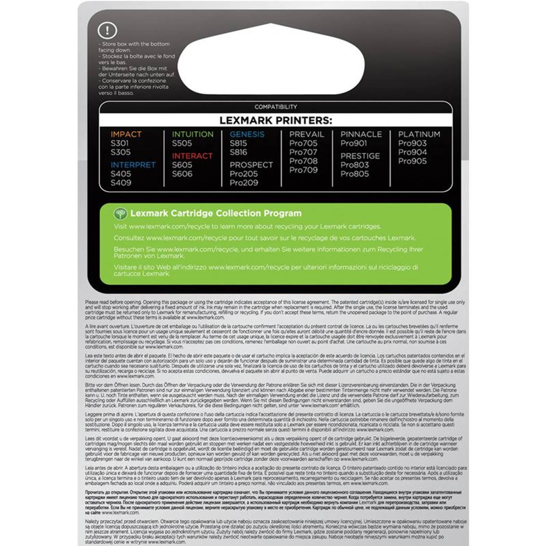 Lexmark 100XL 3-pack kleur Cartridge