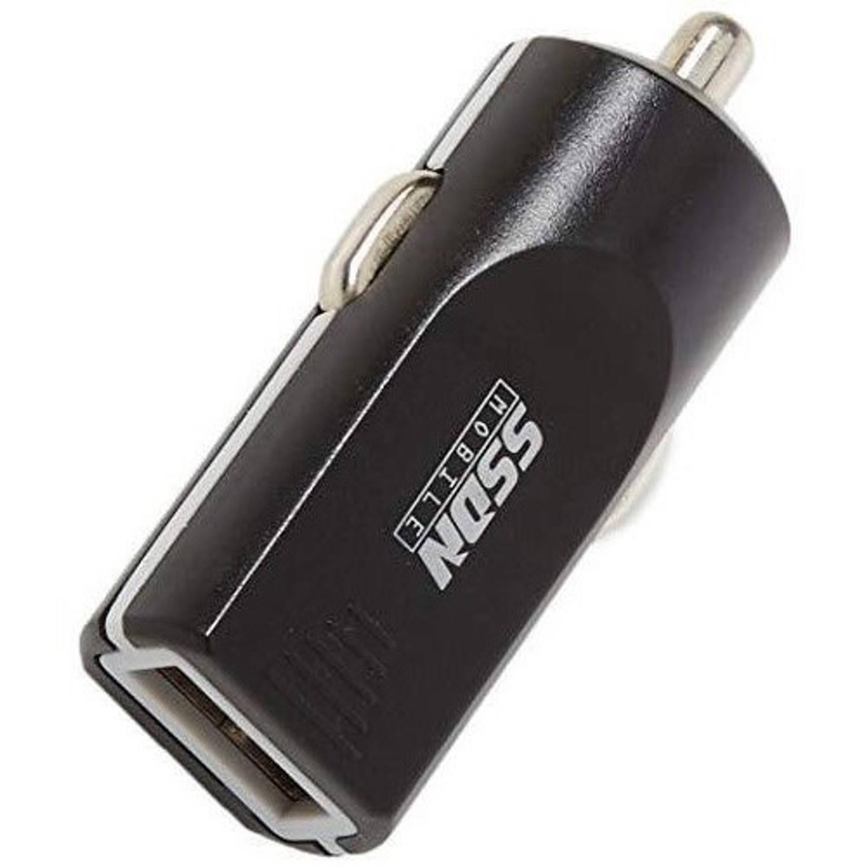 SSDN autolader USB 12/24 Volt 1 Ampère zwart