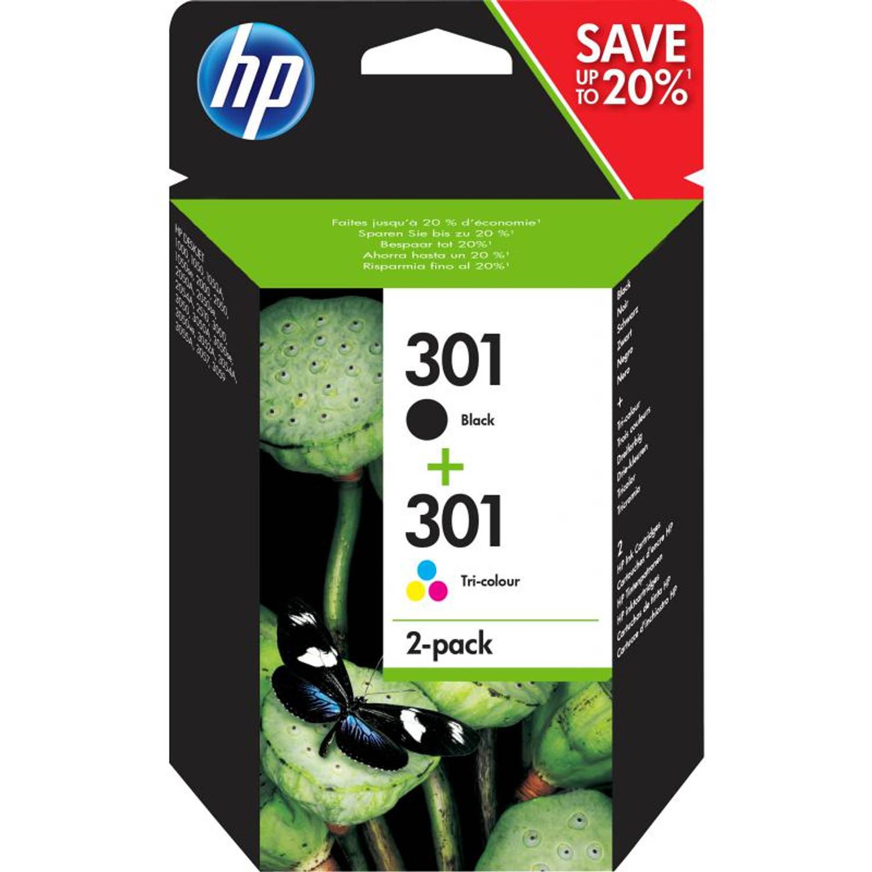 HP 301 Combo-pack zwart en kleur Cartridge