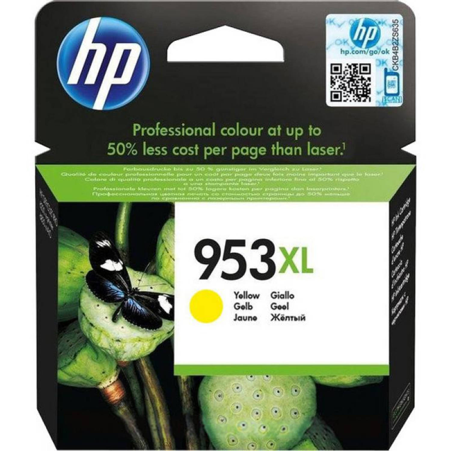 HP 953 XL geel Cartridge