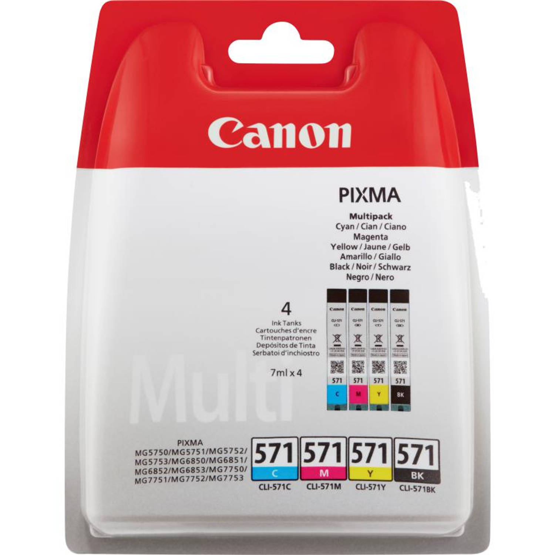 Canon CLI-571 4-pack zwart en kleur Cartridge